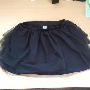 Circo Black Tiered Tulle Skirt